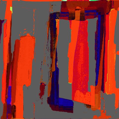 Pristowscheg.Punto y coma.Perspectivas cromáticLaceración directa. 91x91 cm | 36x36 in