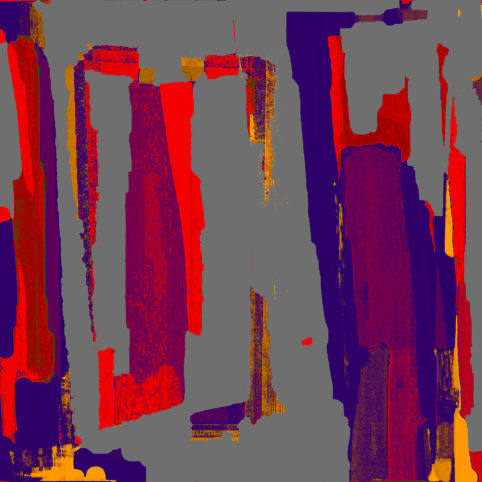Pristowscheg.Punto y coma.Perspectivas cromáticLaceración inversa. 91x91 cm | 36x36 in