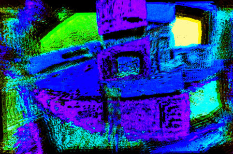 Pristowscheg.The Blue Suite.Perspectivas cromáticas.Abstract Art.Digital Art.The Blue Robot. 53x80 cm | 20,83x31,5 in