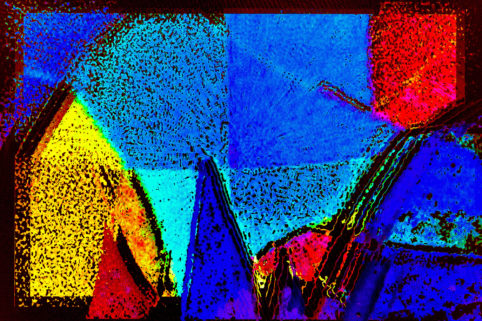 Pristowscheg.The Blue Suite.Perspectivas cromáticas.Abstract Art.Digital Art.Blue Vegas. 77x115 cm | 18x45,28 in