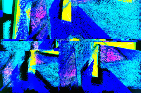 Pristowscheg.The Blue Suite.Perspectivas cromáticas.Abstract Art.Digital Art.Blue Wall. 76x114 cm | 30x45 in