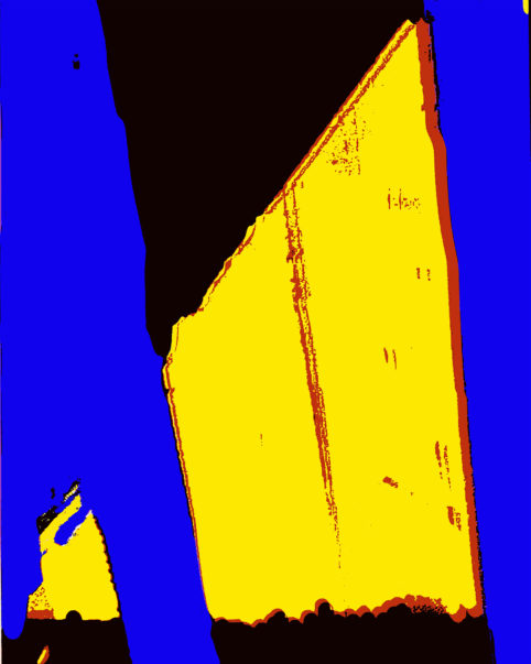 Pristowscheg. Busillis. Perspectivas cromáticas. Abstract Art. Digital Art.The Wall. 95x76 cm | 37,5x30 in