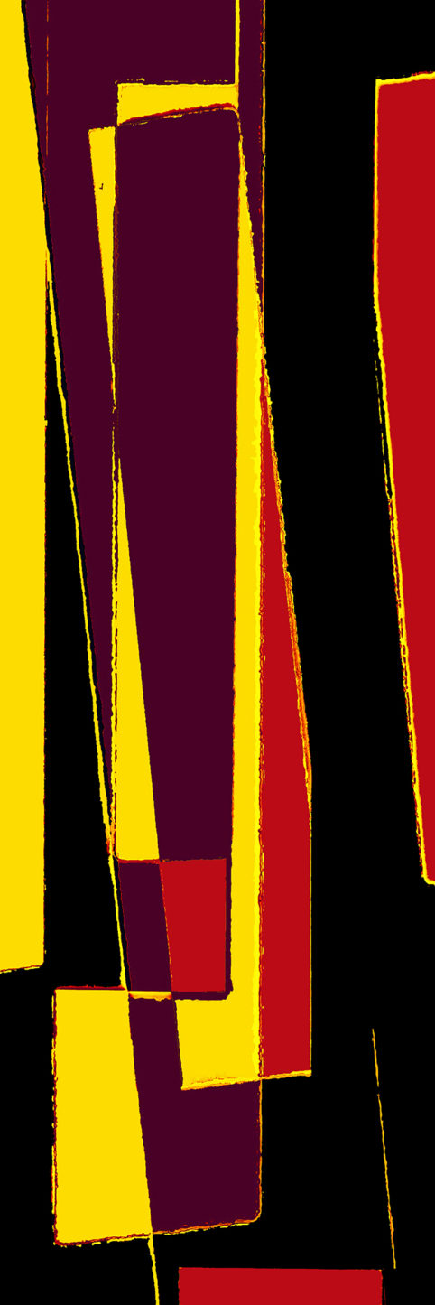 Pristowscheg. Busillis. Perspectivas cromáticas. Abstract Art. Digital Art.Striat #5. 152x51 cm | 60x20 in