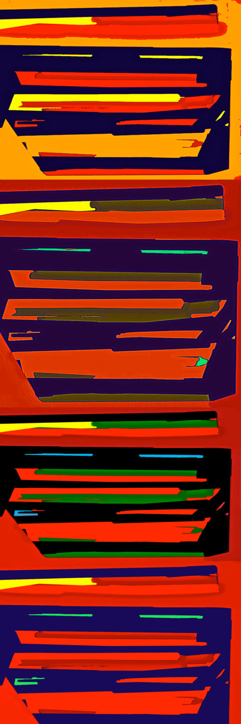 Pristowscheg.Busillis.Perspectivas cromáticas.Abstract Art. Digital Art.Striat #3. 120x40 cm | 47,25x15,75 in