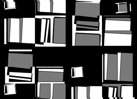 Pristowscheg.The Break.Perspectivas cromáticas.Abstract Art. Digital Art.Composición #7 con gris. 91x127 cm | 36x50 in