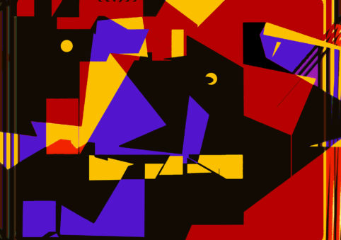 Pristowscheg. Digital Art. Abstract Art. La una y media 90x127 cm | 35,1x50 in