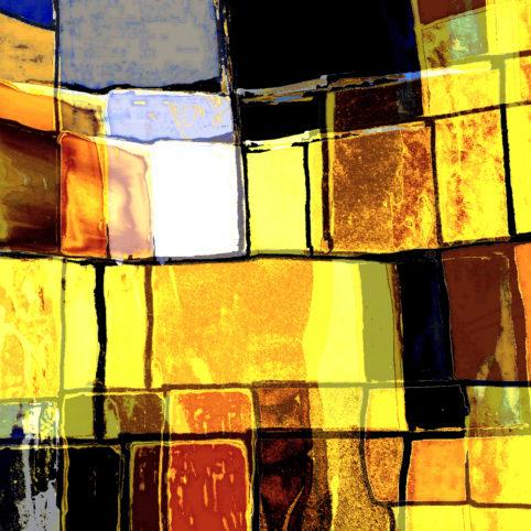 Pristowscheg. Digital Art. Abstract Art. Acuarela psicodélica 91x91 cm | 36x36 in