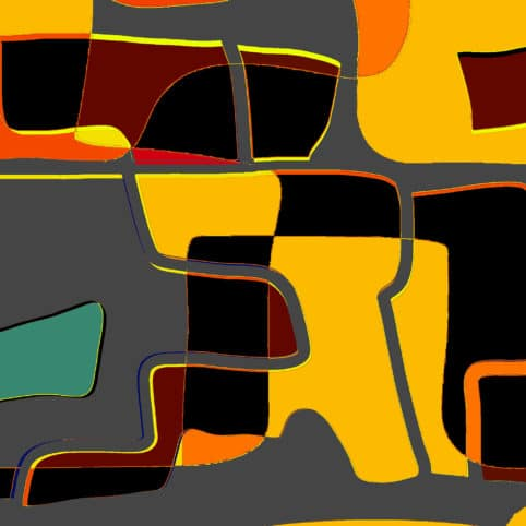 Pristowscheg. Digital Art. Abstract Art. Composición 91x91 cm | 36x36 in