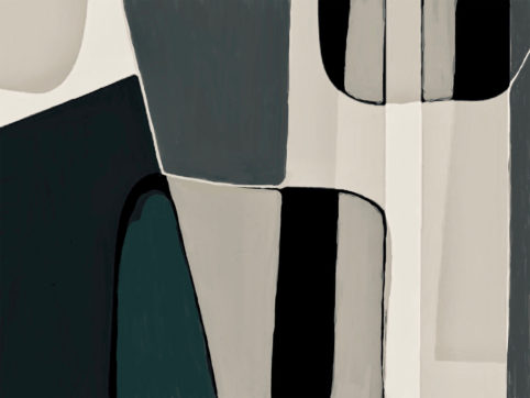 Pristowscheg. Digital Art. Abstract Art. Figuritt 61x81 cm | 24x32 in