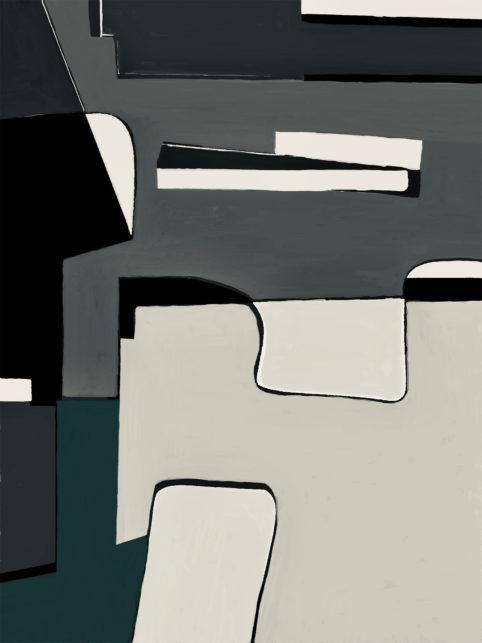 Pristowscheg. Digital Art. Abstract Art. Figuritt 76x57 cm | 30x22,5 in