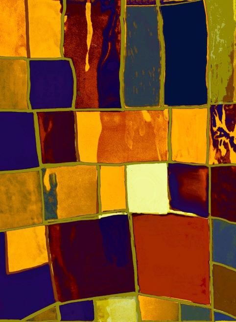 Pristowscheg. Digital Art. Abstract Art. Collage psicodélico 76x56 cm | 30x22 in