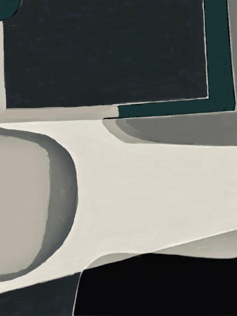 Pristowscheg. Digital Art. Abstract Art. Cwadrat 91x68 cm | 36x27 in