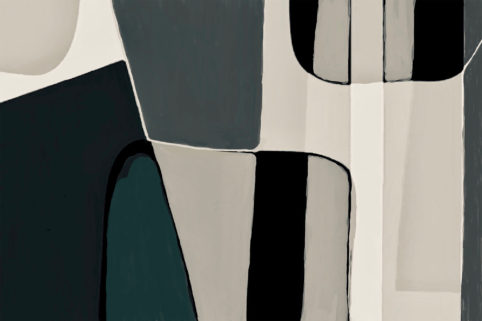 Pristowscheg. Digital Art. Abstract Art. Figuritt 61x91 cm | 24x36 in