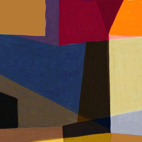 Pristowscheg. Digital Art. Abstract Art. Variación sobre un tema azul 91x91 cm | 36x36 in