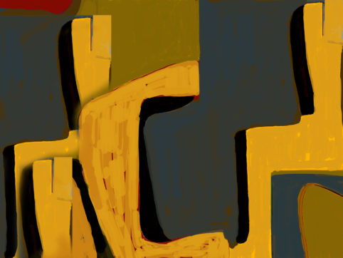 Pristowscheg. Digital Art. Abstract Art. La tienda de Catarino 75x100 cm | 30x40 in