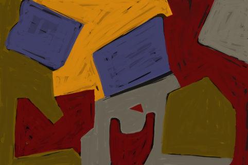 Pristowscheg. Digital Art. Abstract Art. Muchas cosas carecían de nombre 100x150 cm | 40x60 in